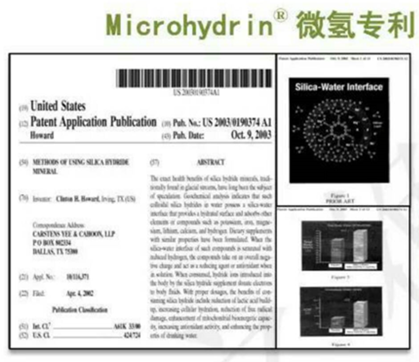 Microhydrin®Patent