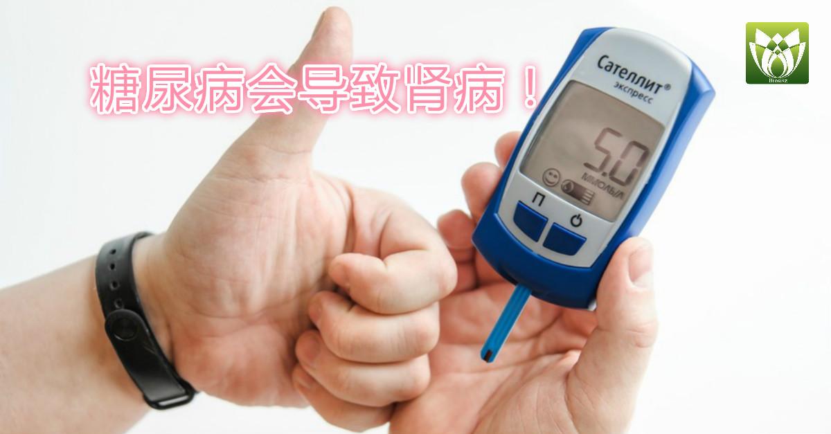糖尿病会导致肾病!